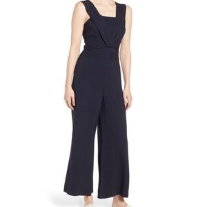 Lewis Twist Wide Leg Jumpsuit Size 16 Navy 1161